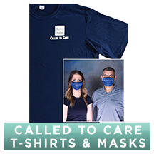 Click here to order a Called to care t-shirts, Masks and Face Shields